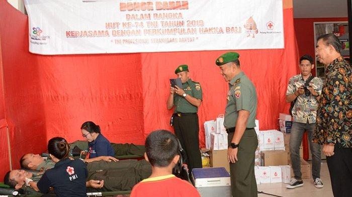 Peringati HUT TNI ke-74, Kodam IX/Udayana Gelar Donor Darah