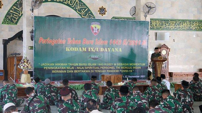 Kodam IX/Udayana Peringati Tahun Baru Islam, Pangdam Ajak Personel Menuju Insan Beriman dan Bertakwa