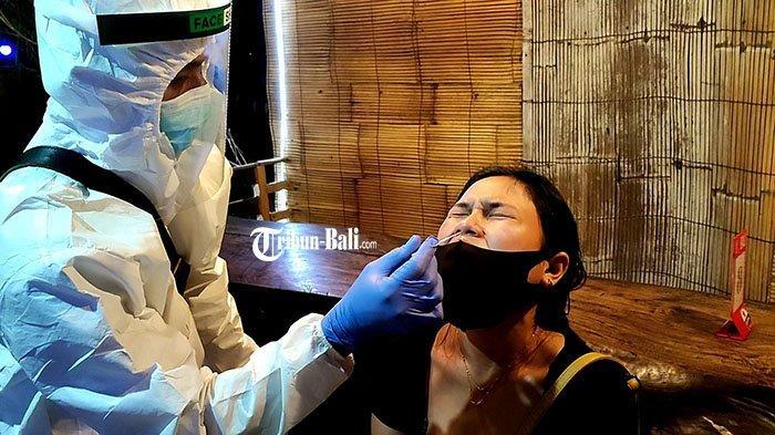 Pengunjung Kafe di Buleleng Dirapid Antigen Acak