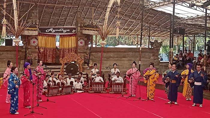 Begini Kisah di Balik Kolaborasi Musik Sanshin Jepang dengan Gamelan Bali dalam PKB 2019