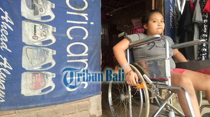 Komang Ulan Penderita Disabilitas Terpaksa Berhenti Sekolah, Tak ada yang Antar Setelah Kakak Nikah