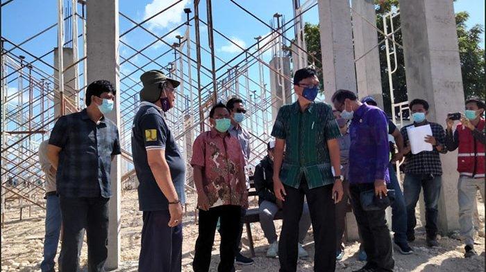 Tinjau Pengerjaan Pelabuhan Segitiga Sampalan, DPRD Klungkung Ingatkan Pelaksana Tambah Tenaga Kerja