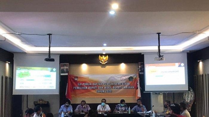 KPU Uji Publik DPS Pilkada Tabanan 2020,Verifikasi Saran dan Perbaikan Bawaslu