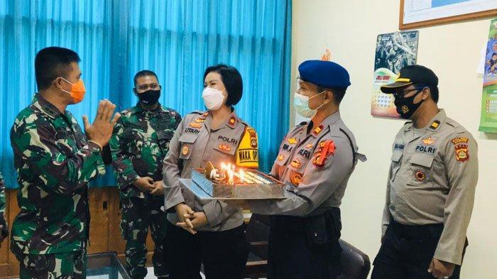 Ikut Rayakan HUT TNI ke-75, Waka Polres Badung Datangi Korem 163/Wirasatya