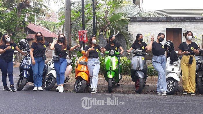 Mengenal Komunitas Vespa Cantik Bali, Kadek Arnili Senang Dapat Teman Baru