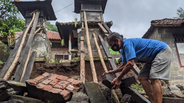 Diterjang Angin Kencang, Pelinggih dan Tembok Warga di Gunaksa Klungkung Ambrol: Ada Suara Keras