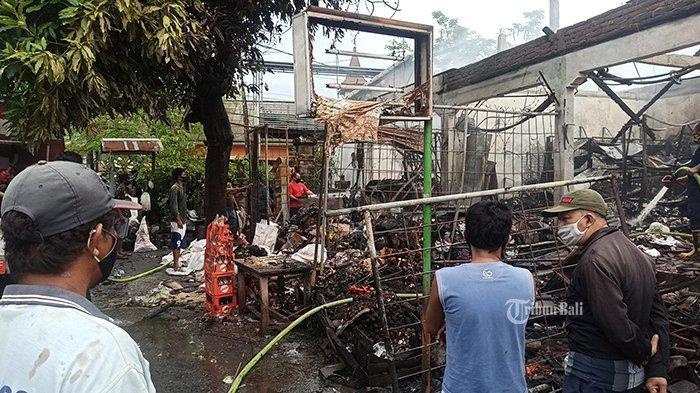 BREAKING NEWS: Rabu 10 Februari 2021, Tiga Ruko di Jalan Raya Semer Badung Hangus Terbakar