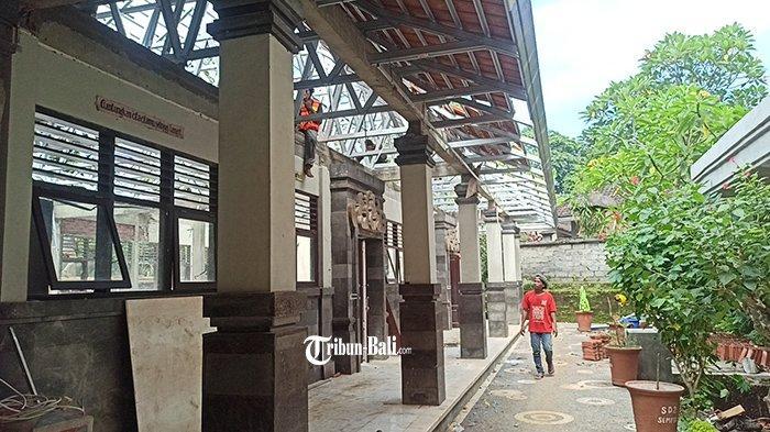 Gunakan Dana Tak Terduga, Perbaikan Atap di SD No 2 Sempidi Badung Tak Lakukan Tender