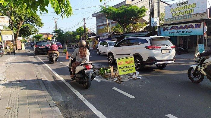 Jalan Cokroaminoto Denpasar yang Rusak Sudah Pernah Diperbaiki, Gusti:Biasanya Banyak Kena Jeglongan
