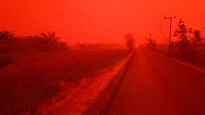 Fenomena Langit Merah di Muaro Jambi Diduga Akibat Karhutla, Begini Penjelasan Ilmiahnya