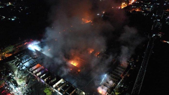 UPDATE: Terbakar Selama 6 Jam Lebih, Ini Titik-titik yang Terbakar di Pasar Umum Blahbatuh Gianyar