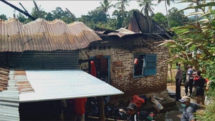 Saat Ditinggal Bekerja, Rumah Gede Wirasa di Buleleng Ludes Terbakar