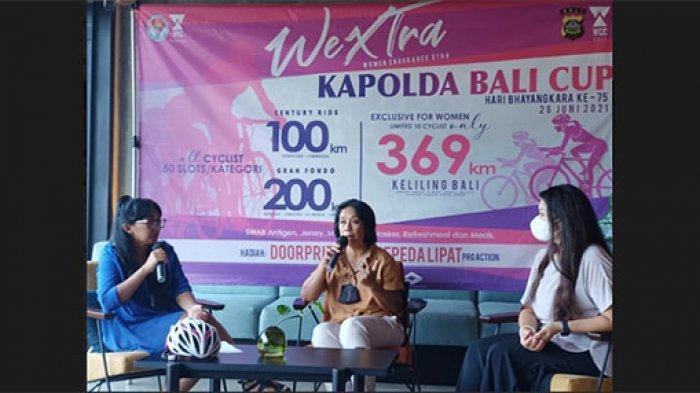 110 Pesepeda Wanita Akan Keliling Bali Ikuti WeXtra Kapolda Cup 2021, Jarak Tempuh Hingga 369 Km