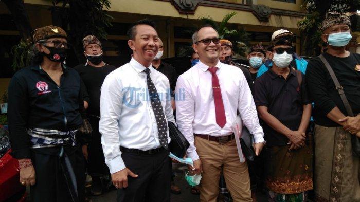 Anggota Perguruan Sandhi Murti yang Datang Ke Polda Bali Karena Laporan AWK Berinisial GNA
