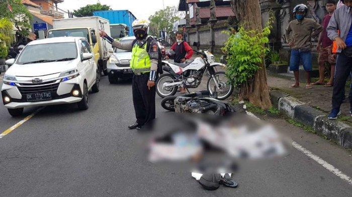 BREAKING NEWS - Salip Truk, Seorang Pelajar Tewas di Jalan Raya Lukluk Sempidi Badung