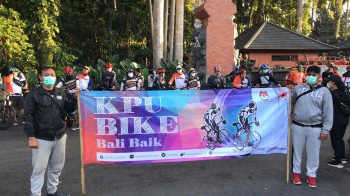 Jaga Imun di Masa Pandemi, KPU Bali dan BPBD Bali Gelar Bersepeda Bersama dan Bagi-bagi 1000 Masker