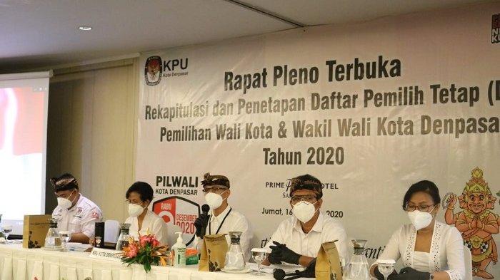 KPU Tetapkan DPT Pilkada Kota Denpasar 444.929 Pemilih