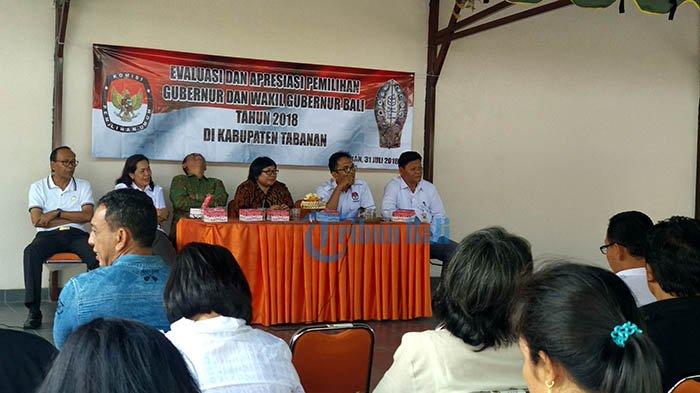 KPUD Sebut Partisipan Pilgub Bali di Tabanan Capai 82,7 Persen