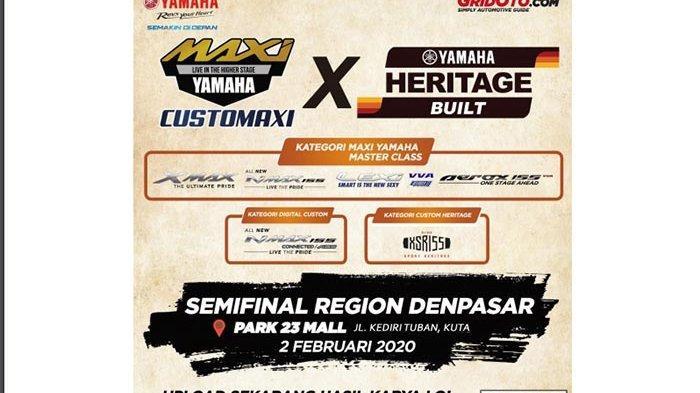 Makin Seru, Adu Kreativitas CustoMAXI x YAMAHA Heritage Built di Bali