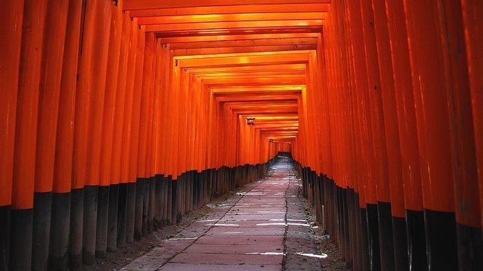 Kuil Fushimi Inari Taisha, Jepang.