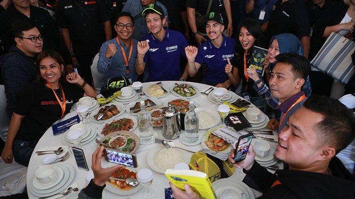 Valentino Rossi dan Maverick Vinales Menyapa Penggemar Indonesia