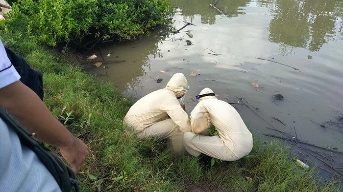 Mayat Laki-Laki Ditemukan di Aliran Sungai Sebelah Tambak Lingkungan Awen Jembrana