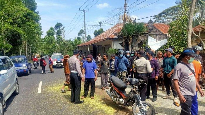 Rem Blong, Pickup Seruduk Pengendara Motor Hingga Tewas di Desa Pengotan Bangli