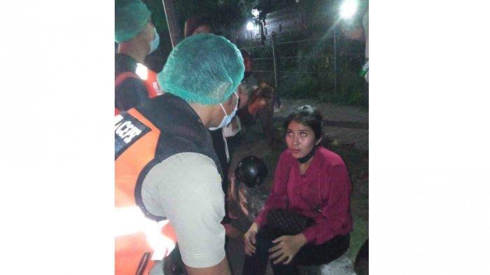 Lakalantas di Jalan PB Sudirman Denpasar Bali, Perempuan Ini Sempat Pingsan