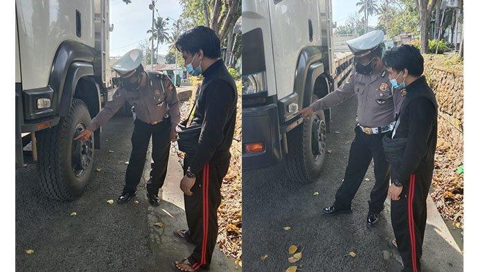 Suami Nyalip dari Kiri, Sainem Tewas Terlindas Truk Tronton di Bypass Soekarno Tabanan
