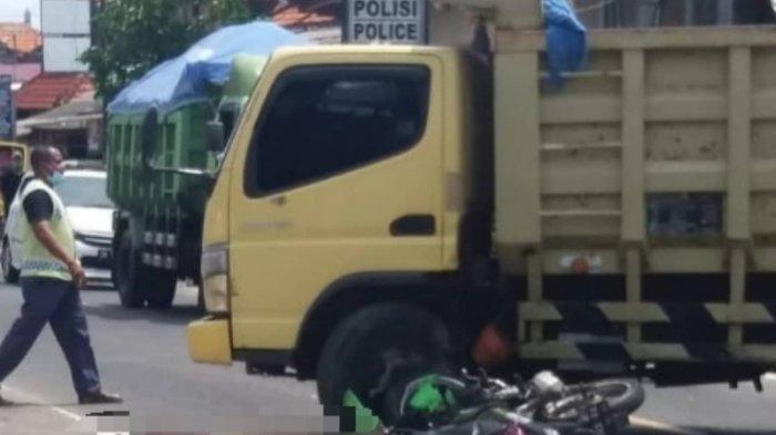 Driver Ojol Meninggal Dunia Usai Terlibat Kecelakaan dengan Truk Dump di Ungasan Badung