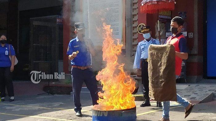 Lapas Kelas IIB Singaraja Buleleng Latihan Penanganan Kebakaran, Masih Kekurangan Apar dan Hydrant