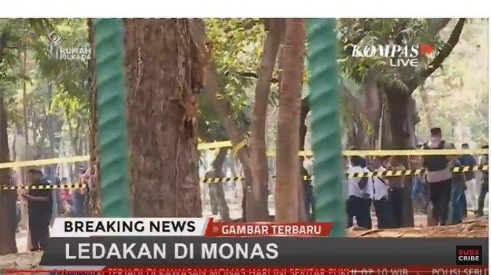 Polisi Ungkap Penyebab Ledakan di Monas, Ternyata Diduga Berasal dari Granat Asap