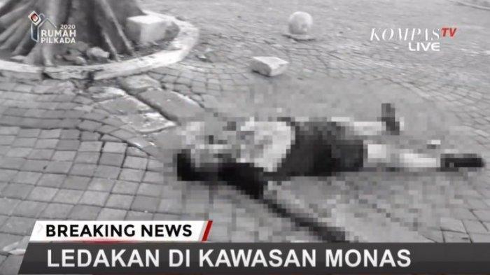 Ledakan di Monas - Korban Sempat Tergeletak, Korban Langsung Bangkit Setelah Rekannya Teriak
