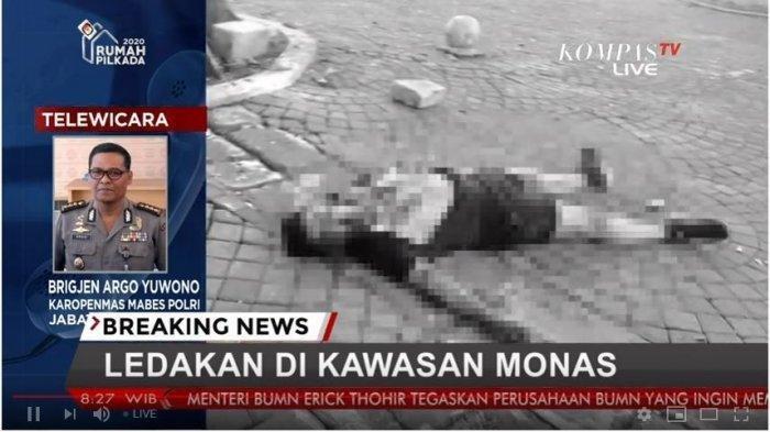 Ledakan di Monas, 2 Anggota TNI Jadi Korban, Ini Kata Polisi