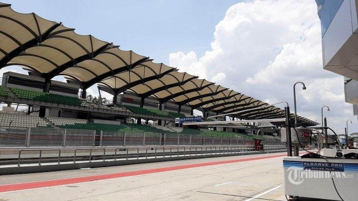 Lintasan di Sepang International Circuit, Malaysia, tempat digelarnya seri ketiga Asia Le Mans Series, Sabtu, 15 Februari 2020.