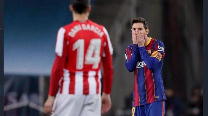Lionel Messi Hanya Dihukum Absen 2 Laga untuk Barcelona Usai Pukul Pemain Athletic Bilbao