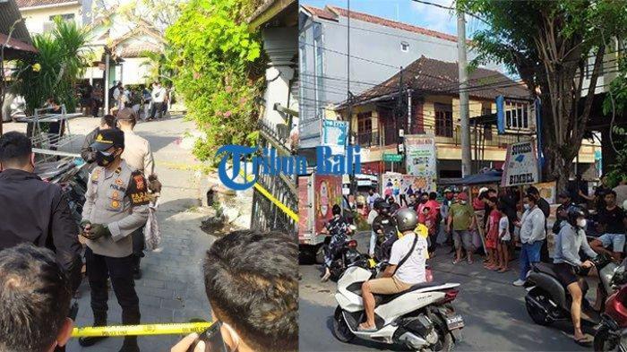 Kiri - Lokasi pertemuan di Jalan Patuha, tempat korban diajak bertemu membicarakan masalah terkait kredit motor. Kanan - Lokasi pembunuhan Gede Budiarsana di Jalan Subur, Desa Tegal Harum, Denpasar Barat, Bali, Jumat 23 Juli 2021.