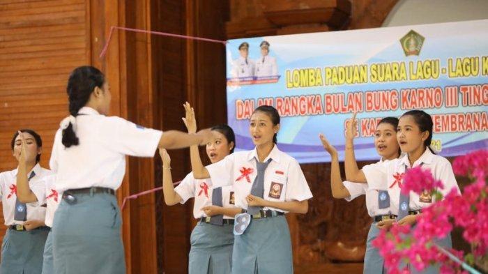 Bulan Bung Karno, Lomba Paduan Suara SMP dan SMA di Jembrana Bangkitkan Nasionalisme