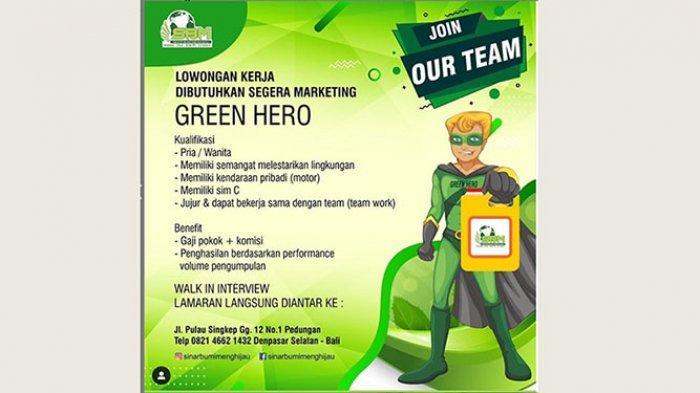 Lowongan kerja Green Hero