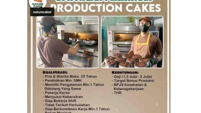 Lowongan Kerja Lulusan SMA/SMK di Badung, Nature Cakes Membutuhkan Production Cakes