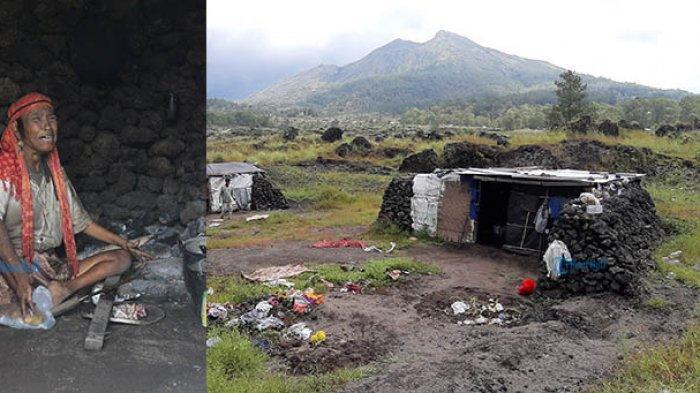 Kisah Wanita Penghuni Rumah Batu di Gunung Batur,Luh Ariani Hanya Mandi Ketika Hujan Turun