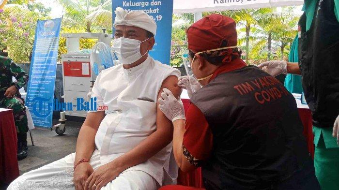 Vaksinasi Covid-19 Serentak di Bangli Bali, Gianyar: Rasanya KayakMesuntikBiasa