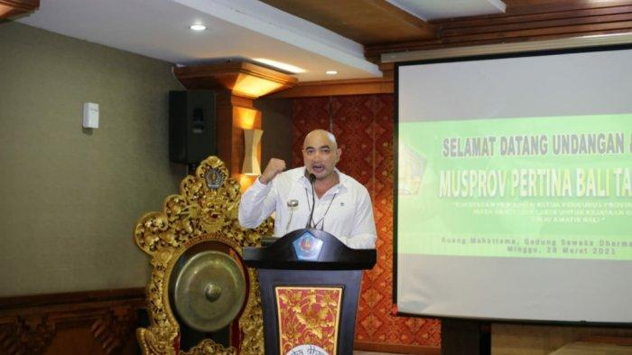 Terpilih Secara Aklamasi, De Gadjah Pimpin Pertina Bali Periode 2021-2025