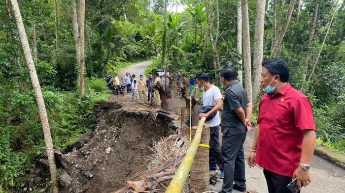 Dewan Harapkan Perbaikan Jalan Putus di Bangli Jadi Prioritas Tahun 2021