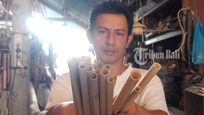 Made Putra Kembangkan Bisnis Sedotan Berbahan Bambu