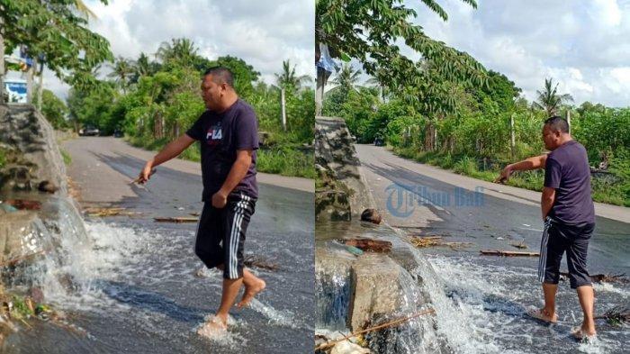 Bupati Gianyar Langsung Kerahkan BPBD Saat Lihat Banjir di By Pass Ida Bagus Mantra