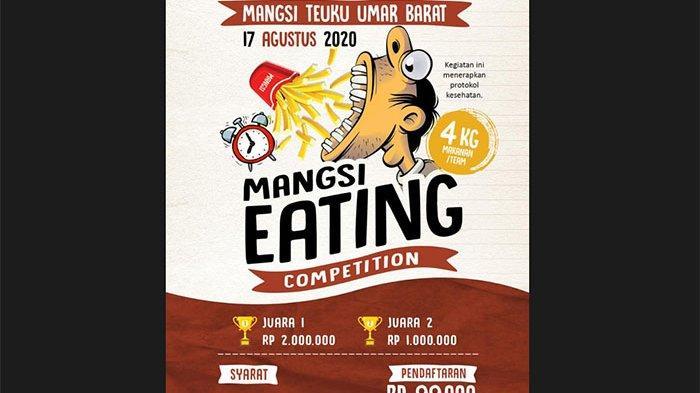 Mangsi Eating Competition: Lomba Makan Namun Tetap Perhatikan Protokol Kesehatan