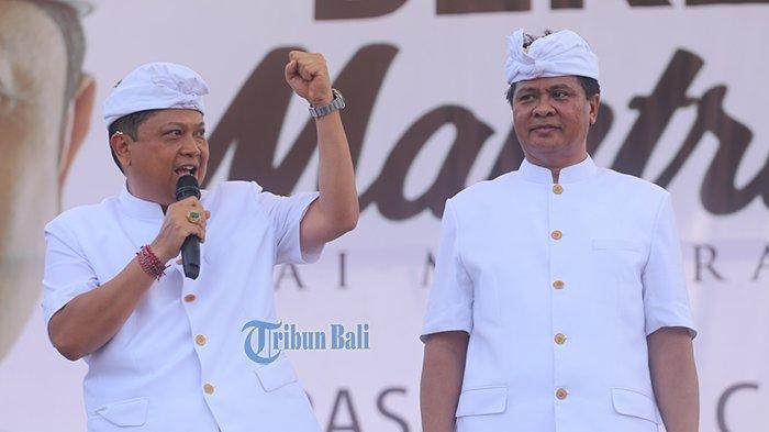 Rai Mantra Kepalkan Tangan Kiri, Simbol Bali Tolak Reklamasi, Sudikerta Siap Mendampingi