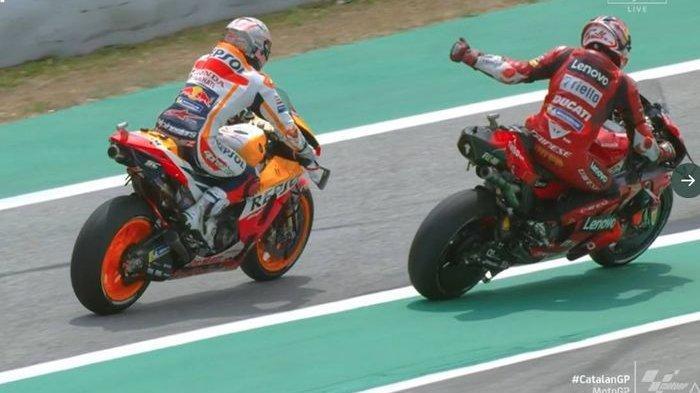 Usai Buat Vinales Jengkel, Marquez Gunakan Trik Slipstream Lagi ke Miller di MotoGP Catalunya 2021