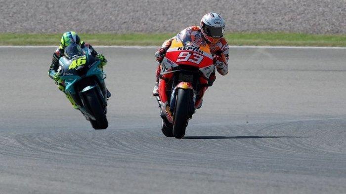 HASIL MotoGP Aragon 2021: Marc Marquez Tercepat di Sirkuit Favorit, Valentino Rossi Crash di FP1